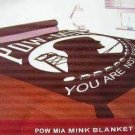 "POW/ MIA Military 80"" x 96 King/ Queen Mink Blanket"