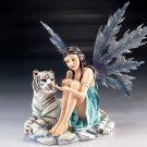 Katrina The Ice Fairy w/ White Tiger Figurine