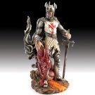 Dragonslayer Templar Crusader with Dragon Head Figurine