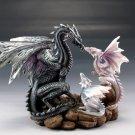 Dragon Family Love Figurine Home Decor Accent