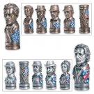 Detailed Civil War Chess Set (No Chessboard)