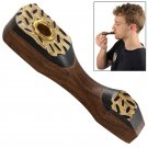 Mardi Gras Buzz Miniature Wooden and Brass Pipe