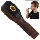 Smoker's Trumpet Miniature Wooden and Brass Pipe