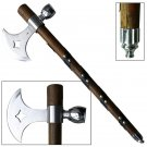 Sacred Wild Frontier Mohican Pole Axe Tomahawk Peace Pipe Calumet