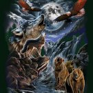 """7 Wolves in the Wilderness Signature Collection 50"""" x 60"""" Fleece Throw Blanket"""
