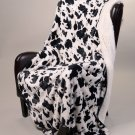 """Cow Print Signature Collection 50"""" x 70"""" Sherpa Mink Throw Blanket"""