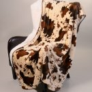 """Rodeo Inspired Print Signature Collection 50"""" x 70"""" Sherpa Mink Throw Blanket"""