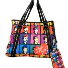 I Love Lucy Colored Images Tote with Pouch