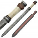 Roman Infantry Army Spatha Damascus Steel Sword