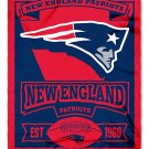 "New England Patriots 50"" x 60"" Marquee Fleece Blanket"