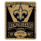 """New Orleans Saints 50"""" x 60"""" Marquee Fleece Blanket"""