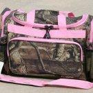 20 Inch Mossy Oak Travel Bag- Pink Trim