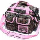 Mossy Oak Medium Deluxe Padded Tactical Range Bag- Pink Trim