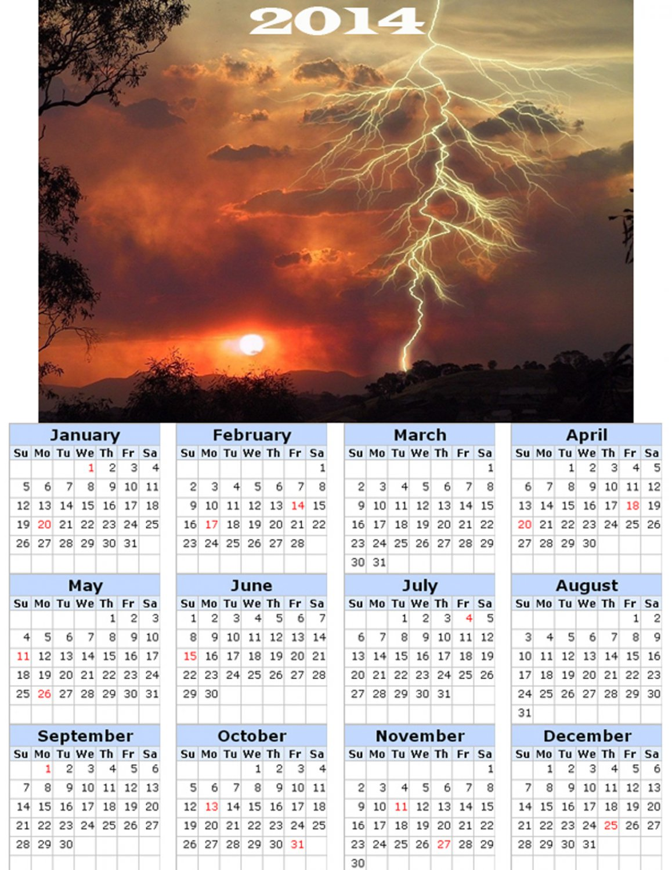 2014 calendar toolbox magnet refrigerator magnet weather #1