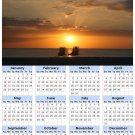 2014 calendar toolbox magnet refrigerator magnet beaches #1