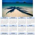 2014 calendar toolbox magnet refrigerator magnet beaches #2