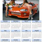 2014 calendar toolbox magnet refrigerator magnet Sexy Girls #2