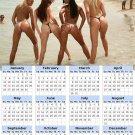 2014 calendar toolbox magnet refrigerator magnet Sexy Girls #5
