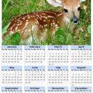 2014 calendar toolbox magnet refrigerator magnet Deer #2