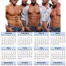 2014 calendar toolbox magnet refrigerator magnet Sexy Guys #1