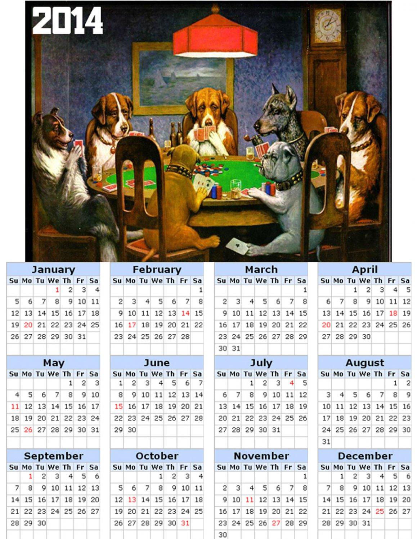 2014 calendar toolbox magnet refrigerator magnet Dogs #2