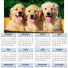 2014 calendar toolbox magnet refrigerator magnet Dogs #5