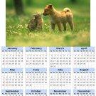 2014 calendar toolbox magnet refrigerator magnet Dogs #6