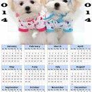 2014 calendar toolbox magnet refrigerator magnet Dogs #9