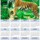 2014 calendar toolbox magnet refrigerator magnet BIG Cats #8