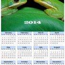 2014 calendar toolbox magnet refrigerator magnet Frogs #8