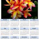 2014 calendar toolbox magnet refrigerator magnet Flowers #3