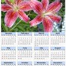 2014 calendar toolbox magnet refrigerator magnet Flowers #7