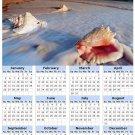 2014 calendar toolbox magnet refrigerator magnet beaches #5
