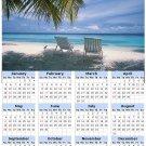 2014 calendar toolbox magnet refrigerator magnet beaches #10