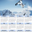 2014 calendar toolbox magnet refrigerator magnet Extreme Sports #9