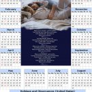 2014 calendar toolbox magnet refrigerator magnet Love #1