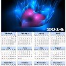 2014 calendar toolbox magnet refrigerator magnet Love #6