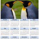 2014 calendar toolbox magnet refrigerator magnet Penguins #3
