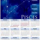 2014 calendar Astrology Zodiac refrigerator magnet Pisces