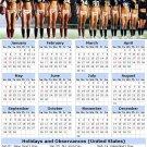 2014 calendar toolbox magnet refrigerator magnet Sexy Girls #11