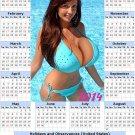 2014 calendar toolbox magnet refrigerator magnet Sexy Girls #39