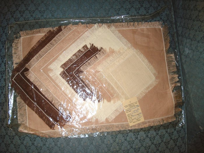 Linen Napkins, Placemat, Coasters Set Made In Poland