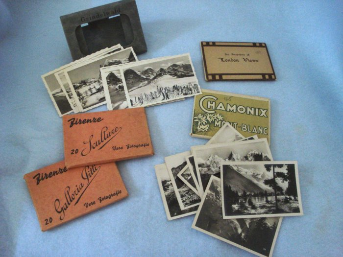 Europe Souvenir Travel Snapshots 1930s, 5 Sets, 66 photos