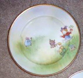 Rare Hand Painted Nippon Sunbonnet Children Pate 7.5�