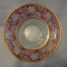 Elegant 1920s Wheel Cut 11 Inch Cranberry Stained Bowl