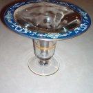 "1920s U S Glass, Fostoria 10.5"" Enamel Blue Case Vase"