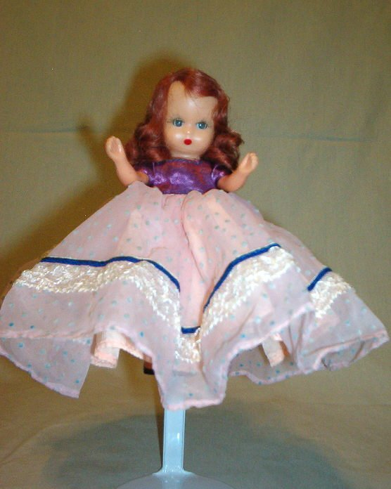 Nancy Ann Storybook Doll with Pink and Purple Dress