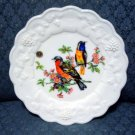 Westmoreland Milk Glass Panel Grape Luncheon - Birds