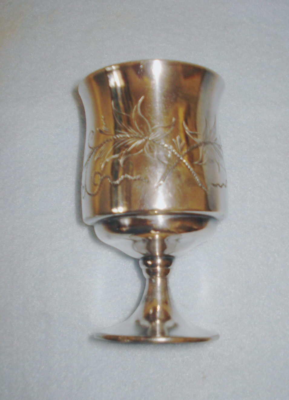 Heavy Silver Plate Victorian Small Goblet or Toothpick