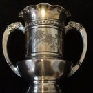Middletown Quadruple Silver Plate Two-Handled Urn
